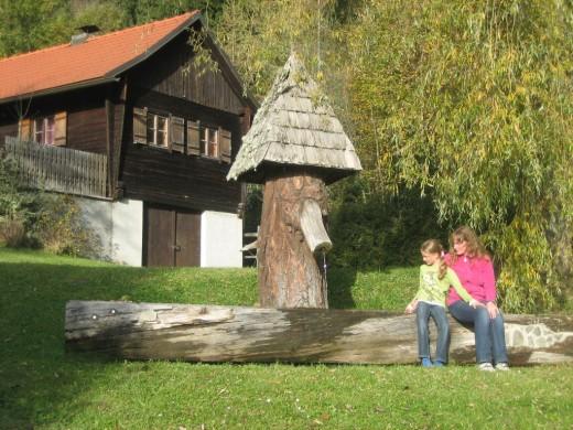 Mühle, mahlen, Biohof-Urlaub, Wasserbrunnen